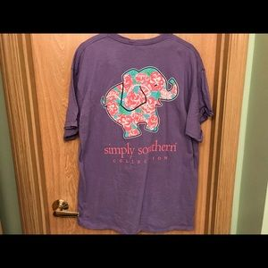 Simply Southern Floral Elephant Tee - XL
